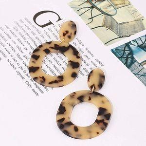 Jewelry - Acrylic Hoop Tortoise Shell Earrings